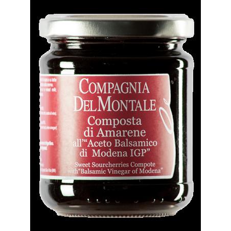 Sweet Sourcherries Compote with Balsamic Vinegar of Modena PGI 220 g